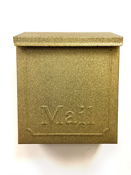 Mailbox spray painted gold